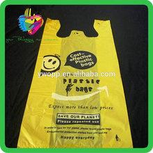Yiwu China yellow cheap vest plastic bag t-shirt
