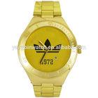 Luxury mens 24k quartz japan movement gold watches men 2014