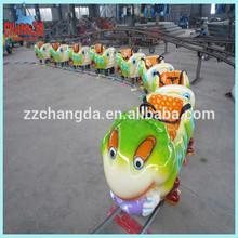 electric amusement Kids track train, children rail train for sale