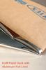 25kg Heat Seal Custom Printed Brown Kraft Paper Packaging bags Lined Aluminum Foil For Engineering Plastic