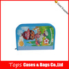 large capacity zipper closure printed blue color make cute pencil cases