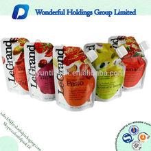 custom printed plastic foil fruit juice packaging spout pouch manufacturer