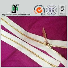 LOW PRICE wholesale fancy style gold teeth metal zipper slider
