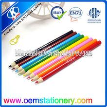 "7""high quality jumbo color pencil with logo"