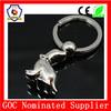 dolphinarium famous performance dolphin silver metal keychain cute animal key chain (HH-key chain-1013)