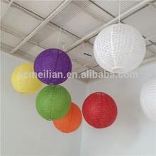 Évidé papier lanterne lumière de décoration pour le mariage
