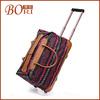 women handbags pu luggage trolley bag