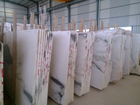 Big price off discount white marble slab
