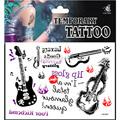 vendita calda chitarra corpo temporaneo autoadesivo del tatuaggio per ladys cristallo corpo gioiello tatuaggio adesivi