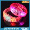wedding souvenirs printing logo blinking party plastic bracelet
