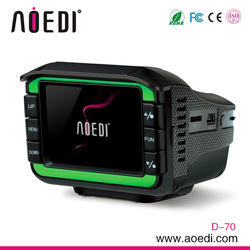 New design multifunctional GPS radar detector optional with car dvr 2 in 1 D-70