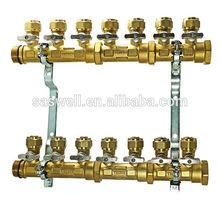 radiant heating of manifold heating
