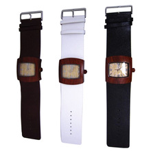 New products wood heart fashion black and white watch wooden watch