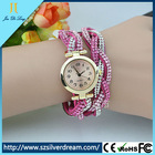 Ladies Leather Watch Fashion Design Crystal Watch Promotion Gift Leather Women Watch