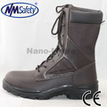 nmsafety sola pu botas de segurança s3 grão couro botas