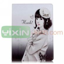 Beautiful Girl Pattern Flip Stand Case for iPad Mini 2 Retina PC Leather Case