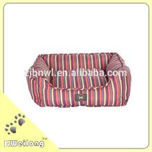 2014 new design pretty color stripe dog bed/pet bed
