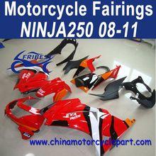Wholesale 08 09 10 11 For Kawasaki ninja 250 ABS Fairings Red Black FFKKA001