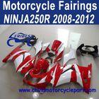 Factory Direct Sales 2008-2012 For Kawasaki ninja 250r Motorcycle Body Kits Red And White FFKKA001