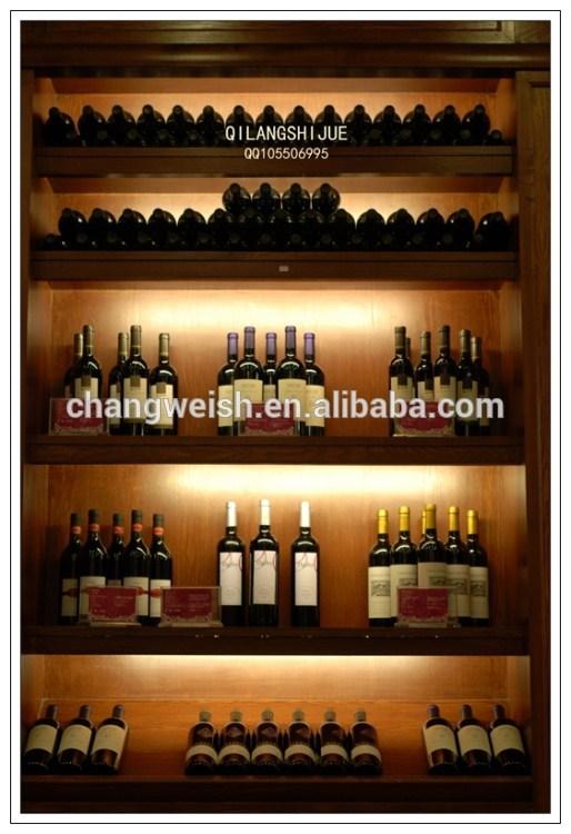 De madera de vino tinto estante de exhibici n al por - Estanterias para vino ...