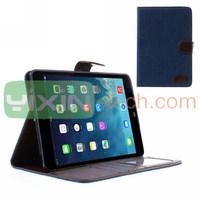 Jeans Design Card Slot Leather Case For iPad mini 2 Retina