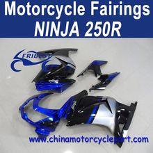 Classic Design For Kawasaki Ninja 250r Motorcycle Body Cowl Blue And Black FFKKA001