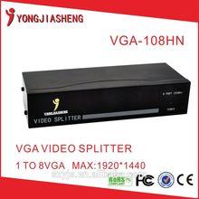 hot sale 8 port vga rca video splitter
