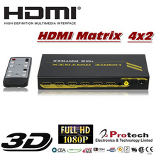 4in x 2out HDMI Matrix Selector Switch Switcher Splitter Multiplier + Digital to Analog Audio Converter feature PET0402A