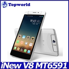 Inew V8 MTK6591T Six Core mobile phone 5.5'' IPS Android 4.4 phone 1GB RAM 16GB ROM