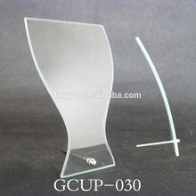 Curved Trophy depot Glass cut corner award Horizon Jade glass plaque