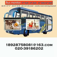 15-24 inch advertising bus monitor/lcd bus monitor HDMI VGA DVI bus cctv
