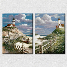 Fairy island beach scenery canvas painting for home decoration