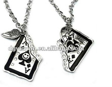 playing card pendant,best friend forever pendant