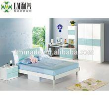สีฟ้าสาวตั้งบ้านเฟอร์นิเจอร์ห้องนอนเด็ก300910