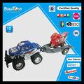 قوة الاحتكاك سحب الشاحنة مع الدراجات النارية الصغيرة fot الاطفال لعبة الشاحنات والمقطورات