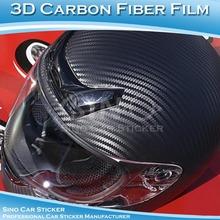 Car SINO etiqueta 1.52 x 30 M 5FTx98FT ar livre 3D preto capacete de fibra de carbono Design / filme de fibra de carbono