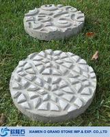 Limestone round decorative garden stepping stones