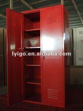 Beautiful Red Knock Down Structure Steel Smart Luggage Locker