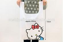 cute printing nylon vest shopping bag