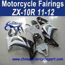 Definitely Durable 11 12 For Kawasaki Zx10r Motorcycle Cowling Fairing White Black FFKKA014