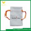 Custom velvet jewelry pouch with logo printed