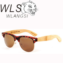 Bamboo Sunglasses ,combination sunglasses with orange mirror Lens and bamboo temples , plastic wayfarer sunglasses