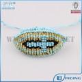 nuovo fashion design a mano 2014 colorati intrecciati malocchio croce mens donne braccialetto amuleto ingrosso