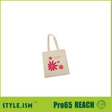 classic custom printed canvas tote bag flower shopping bag