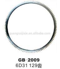 hot sell excavator engine 6D31 129 teeth flywheel ring