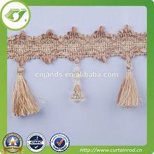 curtain tassel and fringe,beautiful tassel fringe for decoration