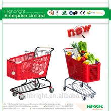 super market plastic shopping cart