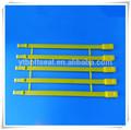 Longitud fija y sello de plástico desechable, doble mecanismo de bloqueo del sello de plástico