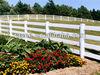 White Vinyl Privacy Fence Panels/ plastic pvc garden fences