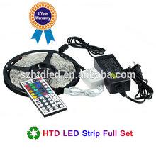 hot 5050 RGB led strip light 5M 300SMD led stripe 24keys SMD IR Remote Controller 5050 led stripe rgb